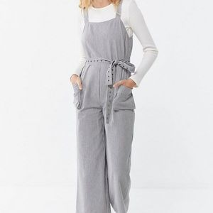 Urban outfitters Miranda Striped Belted Jumpsuit